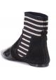Acne Studios flache Stiefeletten aus Stoff und schwarzem Lack