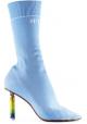 Vetements Hellblaue elastische Stiefel mit leichterem Absatz