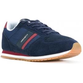 Hackett Herren Sneakers aus blauem Leder und Stoff