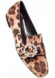 Dolce & Gabbana Loafers Schuhe in Leopardenmuster Velvet