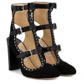 Jimmy Choo High Heels Sandaletten aus schwarzem Wildleder