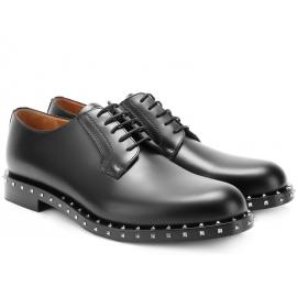 Valentino Herren Schnürschuhe aus schwarzem Leder
