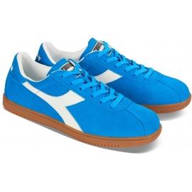 Diadora Herren Tokio Sneakers aus azurblauem Veloursleder