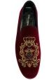 Dolce & Gabbana Herren Slipper in Burgunder Samt