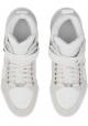 Jimmy Choo Männer hohe Sneakers aus weißem Kalbsleder