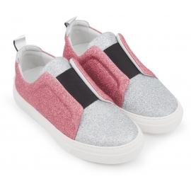 Pierre Hardy Sneaker Slip-Ons in silber / pink glitter