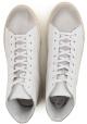 Hogan Herren-High-Sneakers aus cremefarbenem Leder
