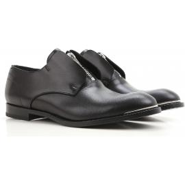 Alexander McQueen Herren-Slipper mit Reißverschluss aus schwarzem Rindsleder