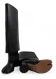 Maison Margiela kniehohe Stiefel aus schwarzem Leder
