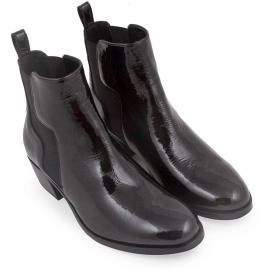 Pierre Hardy Damen Stiefeletten aus schwarzem Lackleder