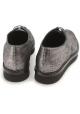 Tods Damen flache Schnürschuh in Silber metallic-Leder