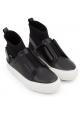 Pierre Hardy hohe Sneakers für Damen aus schwarzem Leder