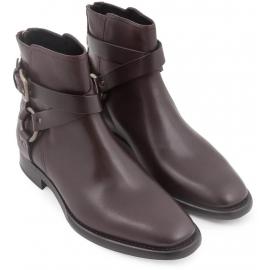 Dolce & Gabbana Herren niedrige Stiefel aus Ebenholz Kalbsleder