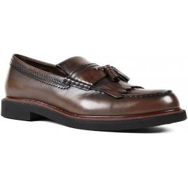 Tod's Männer Quasten Loafers in Schokolade Leder