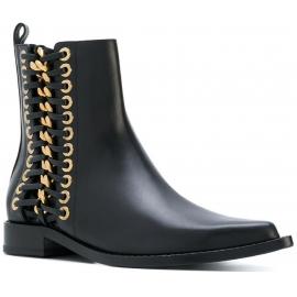 Alexander McQueen Damen Stiefeletten aus schwarzem Leder