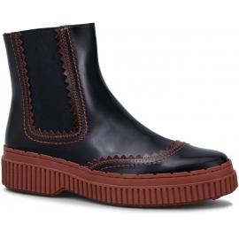 Tod's Damen Chelsea Boots aus braunem Lackleder