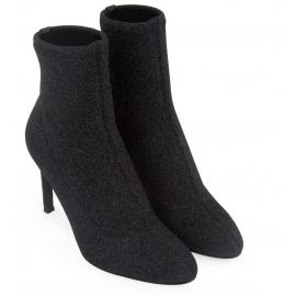Giuseppe Zanotti Stiletto Heels Stiefeletten aus schwarzem Glitzer