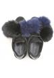 Philippe Model Sneakers aus schwarzem Wildleder und Fell