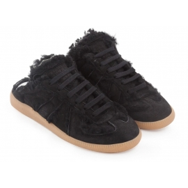 Maison Margiela Damen Replica Sneakers aus schwarzem Wildleder