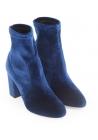 Aquazzura - Halbhohe Stiefel aus blauem Samt