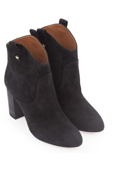 buy online cf56b 82ecb Aquazzura Heels Westernstiefeletten aus schwarzem Wildleder