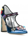 Dolce & Gabbana Mary Janes Pumps in mehrfarbigem Lackleder