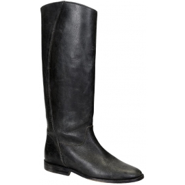 Kniehohe Stiefel der Golden Goose aus dunkelbraunem Leder