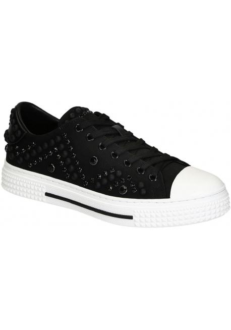 official photos 4dfa1 45427 Valentino Herren-Sneakers aus schwarzem Stoff