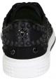 Valentino Herren Niedrige Sneakers aus schwarzem Stoff