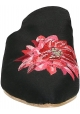 Gia Couture Damen-Hausschuhe aus schwarzem Stoff
