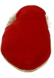 Gia Couture Pelz gefütterte enge Hausschuhe aus rotem Samt