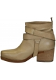 Vic Matié Block Heels Stiefeletten aus Sandleder