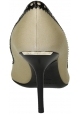 Burberry-Dekolleté-Pumps aus beigem Leder und Stoff