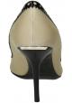 Burberry Stilettos Peeptoes aus beigem Leder und Stoff