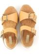 Hogan Flache Wedges Sandalenschuhe aus hellbraunem Leder