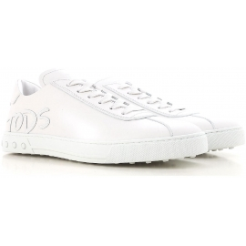 Herren Tod's Sneaker aus weißem Kalbsleder