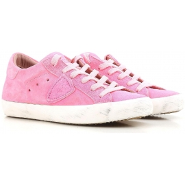 Philippe Model Damen niedrige Sneakers aus Wildleder