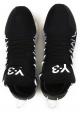 Kusari Y3 Herren Sneaker aus schwarzem Leder und Stoff