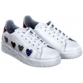 Chiara Ferragni Low Top weiße Leder Sneakers Schuhe
