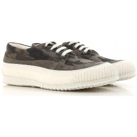 Hogan Herren-Sneakers mit niedrigem Topanteil aus Tarnstoff