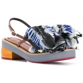 Marni Sandaletten mit großer Stoffschleife