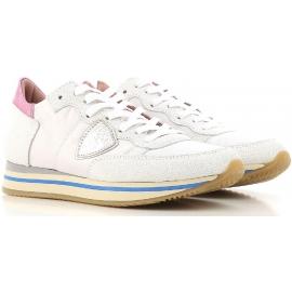 Philippe Modell niedrige Turnschuhe für Frauen aus weißem Leder