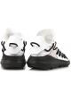Kusari Y3 Herren Sneaker aus Leder und weißem Stoff