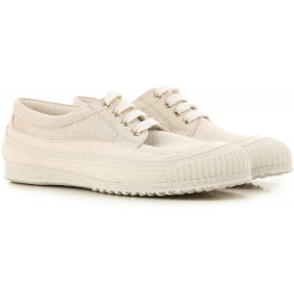 Hogan Low-Top-Sneakers für Damen aus beige Stoff