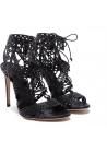 Casadei Abend schwarzen hohen Stiletto heels Sandaletten