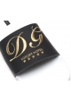 Dolce & Gabbana Herrenhausschuhe aus schwarzem und weißem Gummi