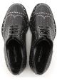 Dolce & Gabbana Herren-Schnürschuh aus schwarzem Leder
