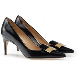 Sergio Rossi Heels Pumps Schuhe aus schwarzem Leder