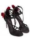 Dolce & Gabbana High Heel Sandaletten aus schwarzem Satin