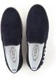 Tod's Männer Slip-On Schuhe aus blauem Wildleder